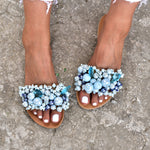 blue sandals for wedding, wedding sandals