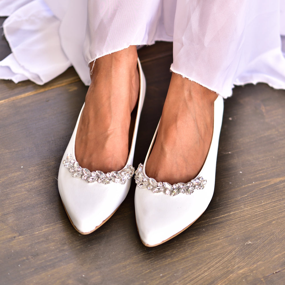 wedding leather shoes, flat wedding shoes