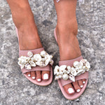 best summer shoes 2020, bohemian sandals Greece, shell sandals, summer sandals