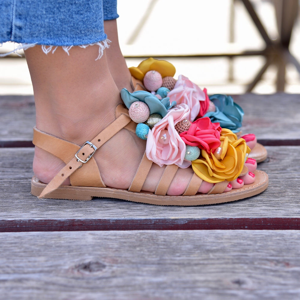 leather sandals, greek sandals