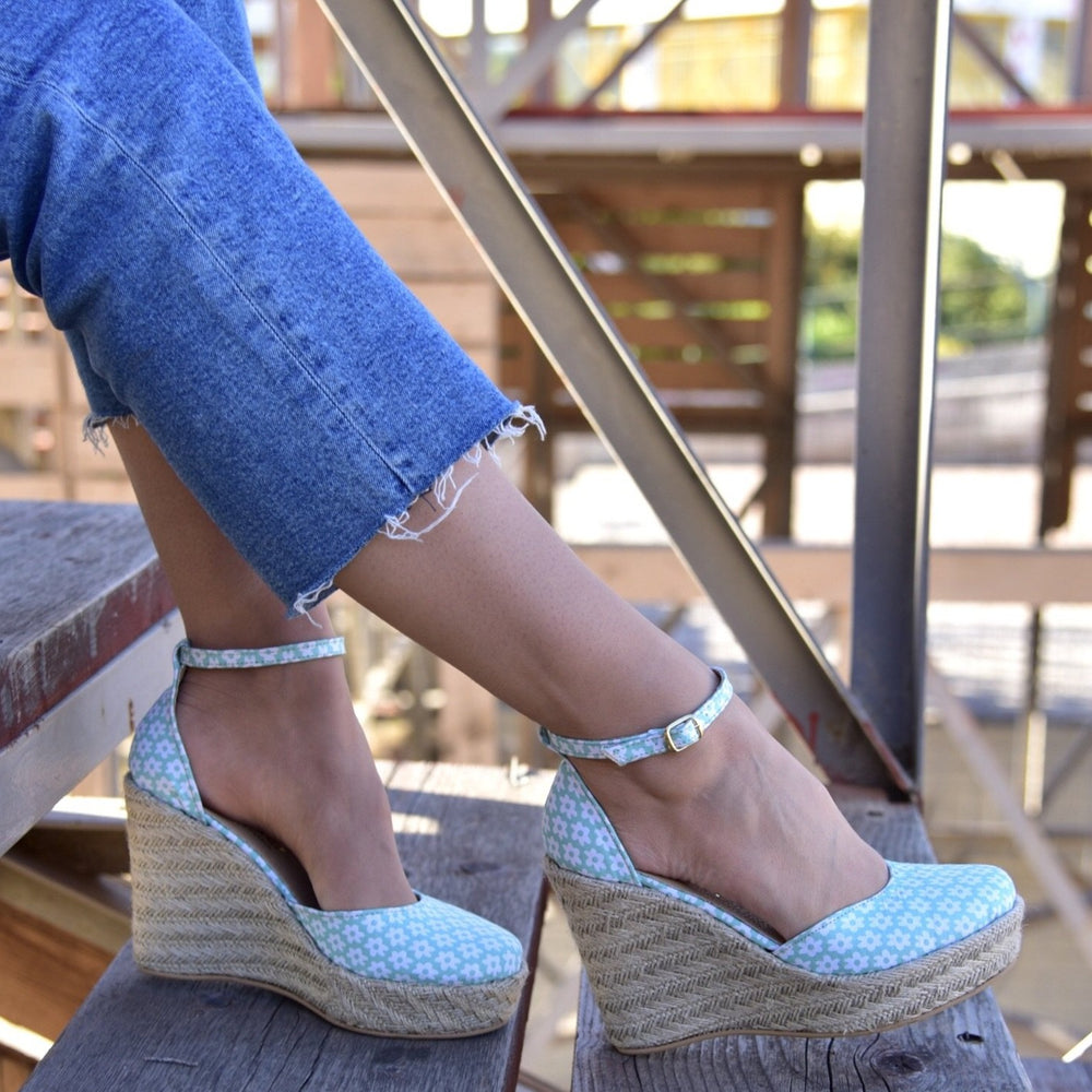 Tinker Bell - leather espadrilles