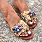 shoe strends summer 2020, bohemian sandals in Athens