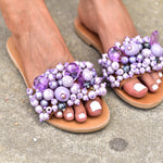 boho leather sandals made in Greece