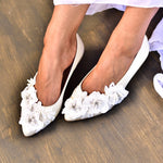 Pointed Toe wedding shoes, Wedding Ballet Flats