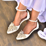 bridal shoes,  wedding shoes ivory
