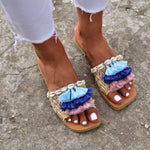 bohemian sandals made in greece, slides for women