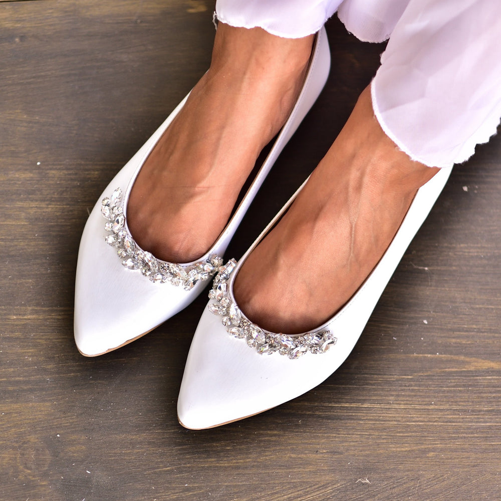 White Wedding Shoes, Pointed Toe Shoes