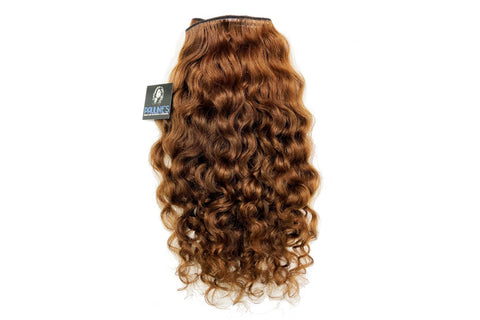 Natural Indian Curly - Dark Auburn