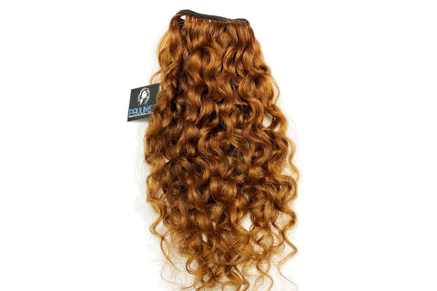 Natural Indian Curly - Medium Auburn