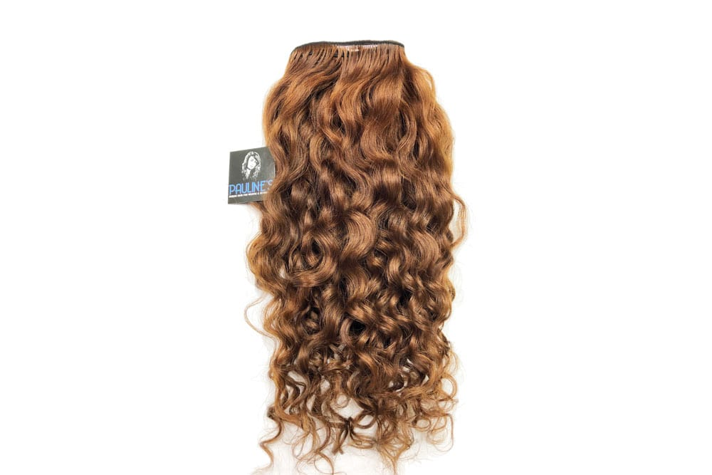 Natural Indian Curly - Medium Dark Auburn