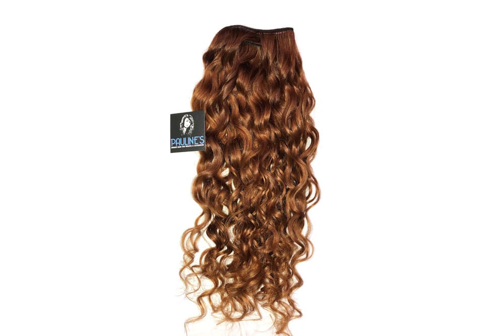 Natural Indian Curly - Medium Light Auburn