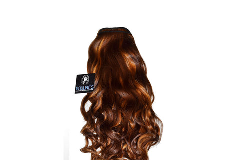 Natural Wavy -  Dark Auburn with Medium Auburn Streaks