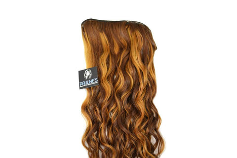 Natural Wavy - Medium Auburn with Light Auburn Streaks