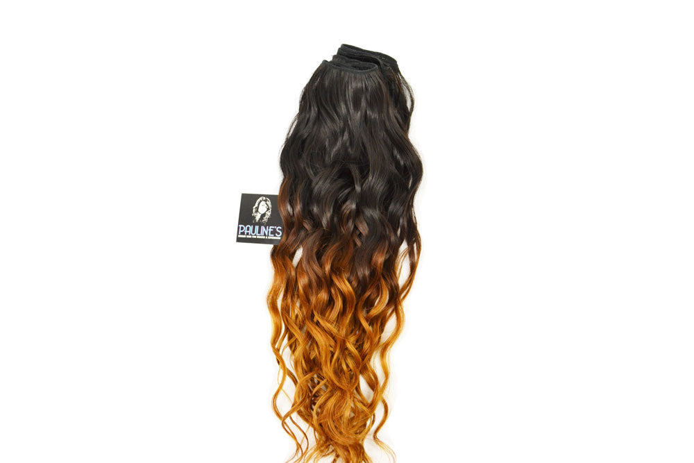 Natural Wavy - Ombre with Natural Color - Dark Auburn to Medium Auburn