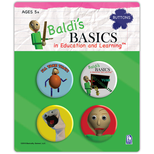 Baldi's Basics Button Set v1 (4 Total)
