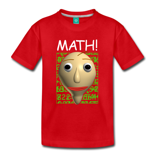 Math! Youth T-Shirt - red