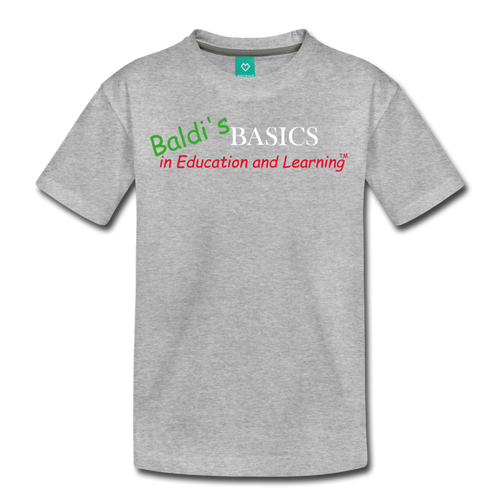 Baldi's Basics Logo T-Shirt (Youth) - heather gray