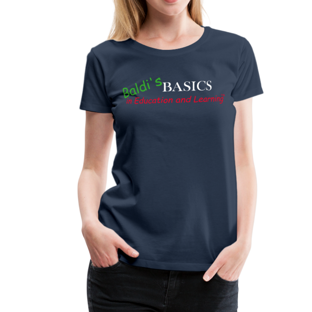 Baldi's Basics Logo T-Shirt (Womens) - navy