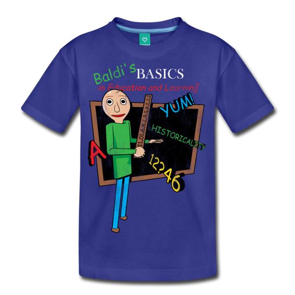 Vintage Baldi's Basics Logo T-Shirt (Youth) - royal blue