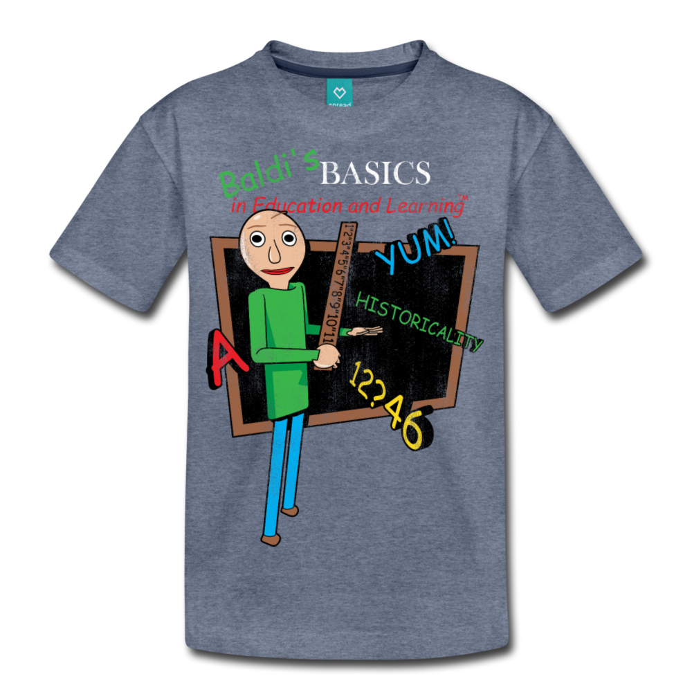 Vintage Baldi's Basics Logo T-Shirt (Youth) - heather blue