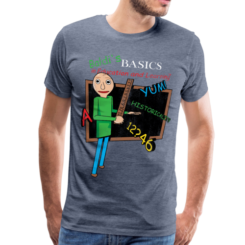 Vintage Baldi's Basics Logo T-Shirt (Mens) - heather blue