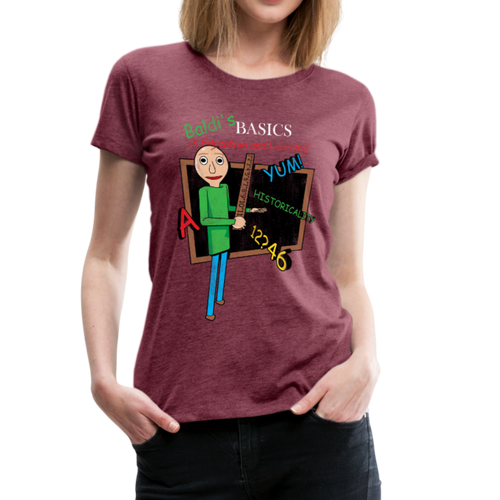 Vintage Baldi's Basics Logo T-Shirt (Womens) - heather burgundy