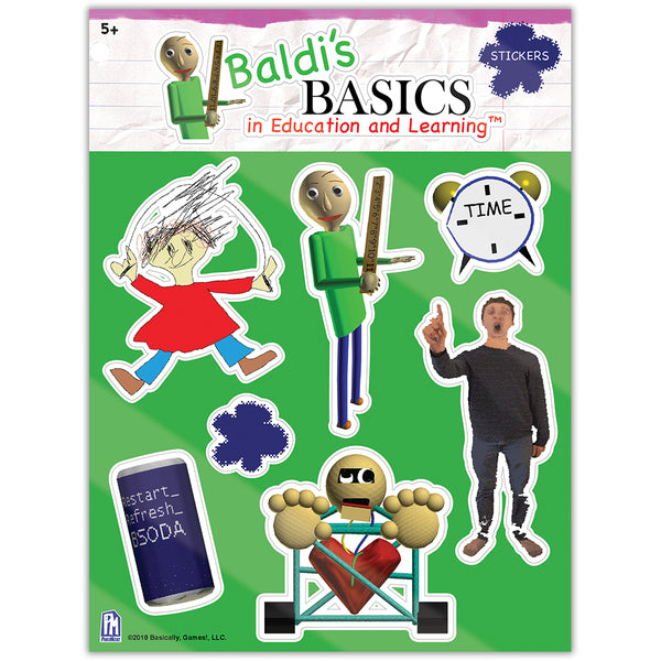 Baldi's Basics Sticker Sheet v1