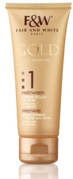 Fair and White 1: Prepare Gold AHA Brightening Cream Hydroquinone Free 75ml - FairSkins.us