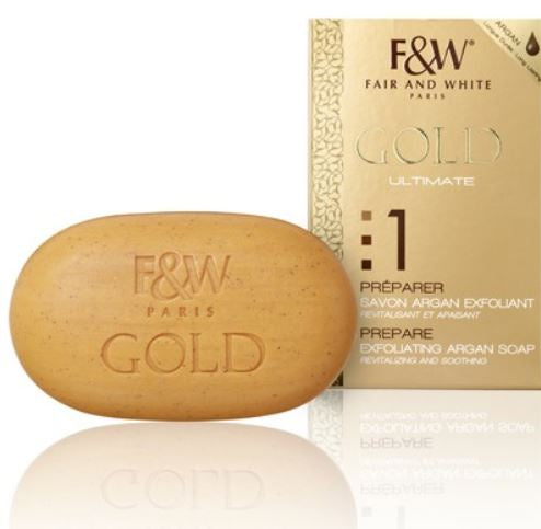 Fair and White 1: Prepare Gold Exfoliating Argan Soap 200gr - FairSkins.us