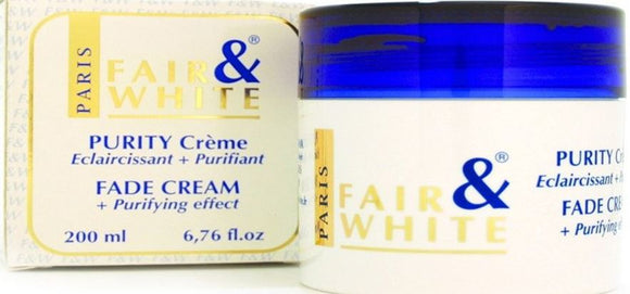 Fair and White Purity Fade Cream Jar 200 ml/ 6.76 fl - FairSkins.us