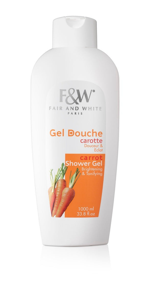 Fair and White Carrot Shower Gel 1000ml(Hydroquinone FREE!!!) - FairSkins.us