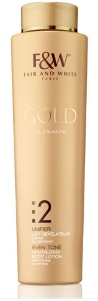Fair and White 2: Even Tone Gold Revitalizing Body Lotion 500ml - FairSkins.us