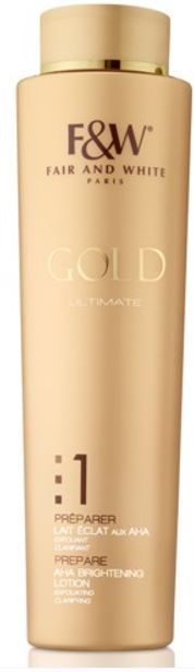Fair and White 1: Prepare Gold AHA Brightening Lotion Hydroquinone Free 350ml - FairSkins.us