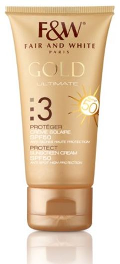 Fair and White 3: Protect Gold Sunscreen SPF 50 50ml - FairSkins.us