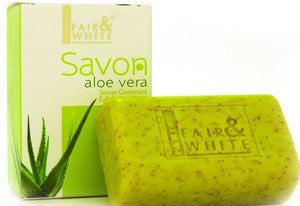 Fair and White Aloe Vera Expoliating Soap - FairSkins.us