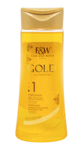Fair and White Gold 1 Prepare Argan Radiance Shower Gel 8.45 oz - FairSkins.us