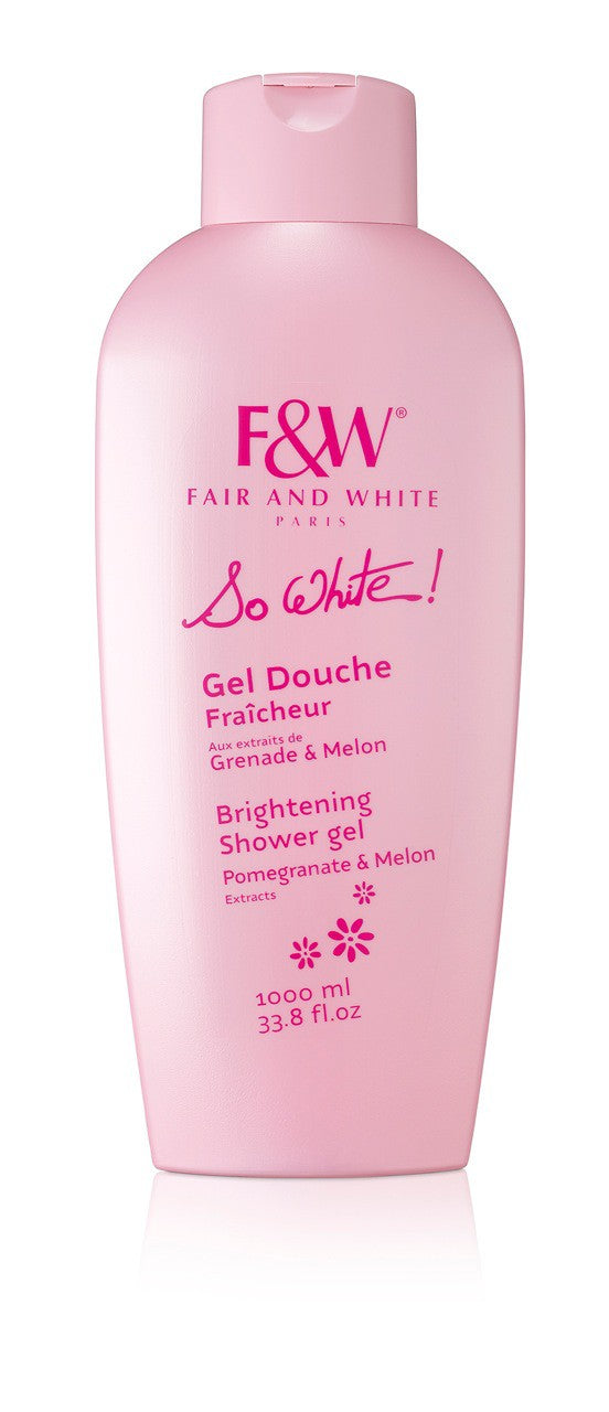 Fair and White : So White Refreshing Shower Gel With Pomegranate And Melon Extracts 1000ml (Hydroquinone FREE!!!) - FairSkins.us