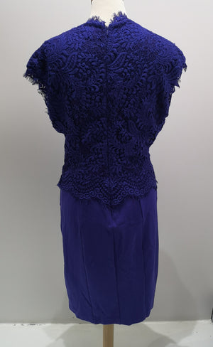 Ted Baker Royal Blue Dress Size 3, UK 12