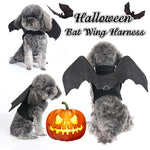 Halloween Bat Wing Dog Harness Party Costume