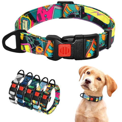 Nylon Puppy Collar Dog Collar Printed Bohemian Style Small Dogs Collar