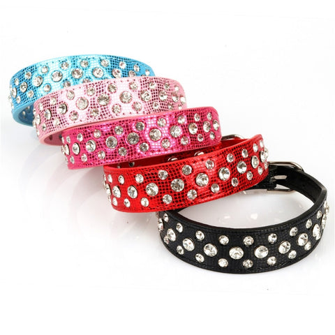 Small Dogs Collars Rhinestone