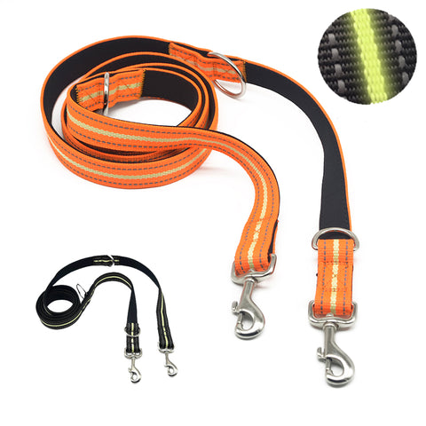 7 in 1 Nylon Multi-functional Dog Leash Glow in  the Dark  Orange 2m