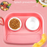 Pet Food Bowl Non-Slip Thicken Pet Rice Bowl Double Bowl Pet Supplies For Dogs And Cats Food Water Feeding comedero perro Newest