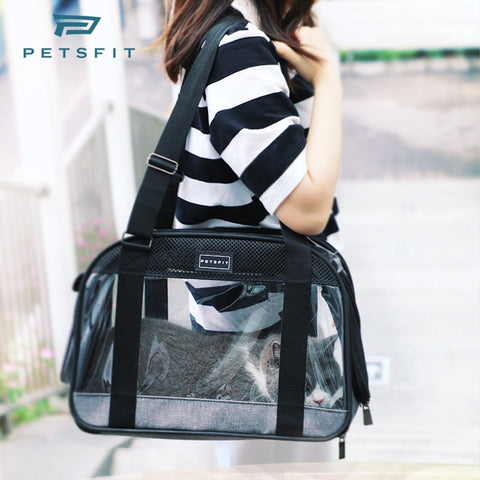 Transparent Dog Bag Portable Shoulder Pet Bag  Luxury Dog Carrier