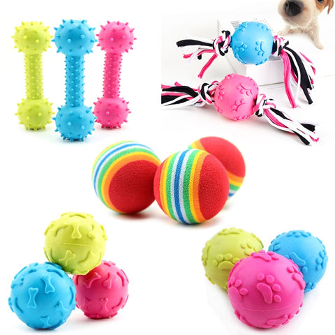 Colorful Pet Dog Toys Rubber Interactive Chew Toys for Dog Teeth Training Toy with Thorn Dog Bite Resistant Molar Pet Product