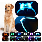 DOG LED harness for Large 7 in 1 color Glowing USB