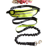 Dog Leash Running Nylon Hands Free Harness Collar Adjustable Waist