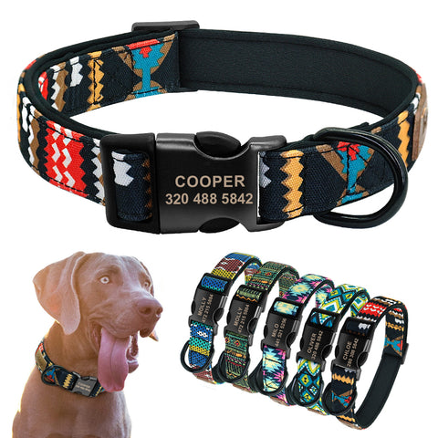 Personalized Dog Collar Custom Puppy Pet Collars for Medium Large Pet