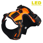 LED Harness Tailup Nylon Flashing Light Dog Harness Vest