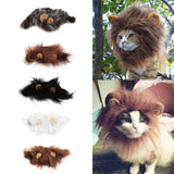 2020 Hot Sale Pet Cat Dog Dress Up Costume Wig Emulation Lion Hair Mane Ears Head Cap Autumn Winter Muffler Scarf
